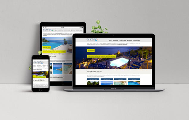 sito web sunrise piscine