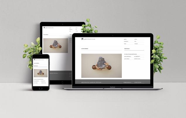 sito web galleria d'arte
